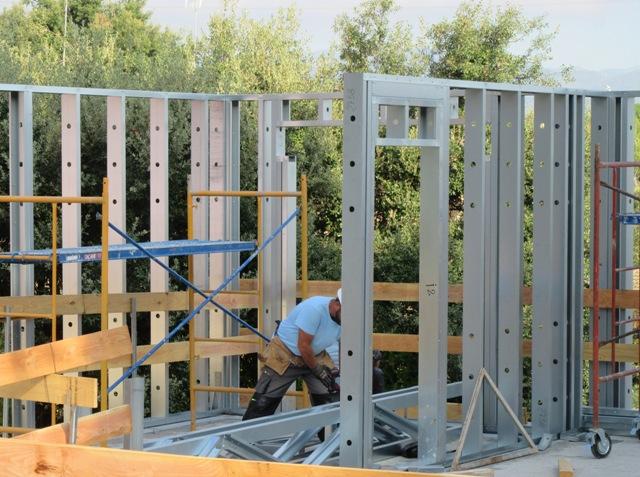 Edifici unifamiliar en construcció mitjançant Steel Frame